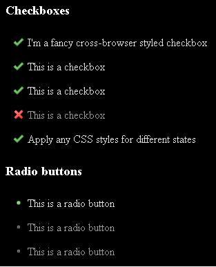 修改input 多选框 css样式/自定义的复选按钮组和单选按钮组