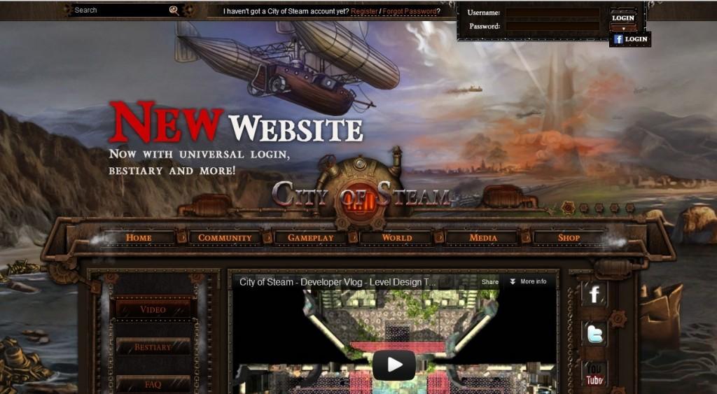 公司网站新版上线 City of Steam