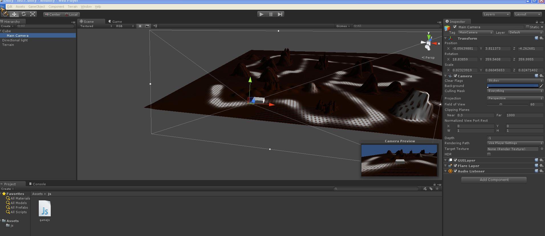 unity3d 入门和第一个demo
